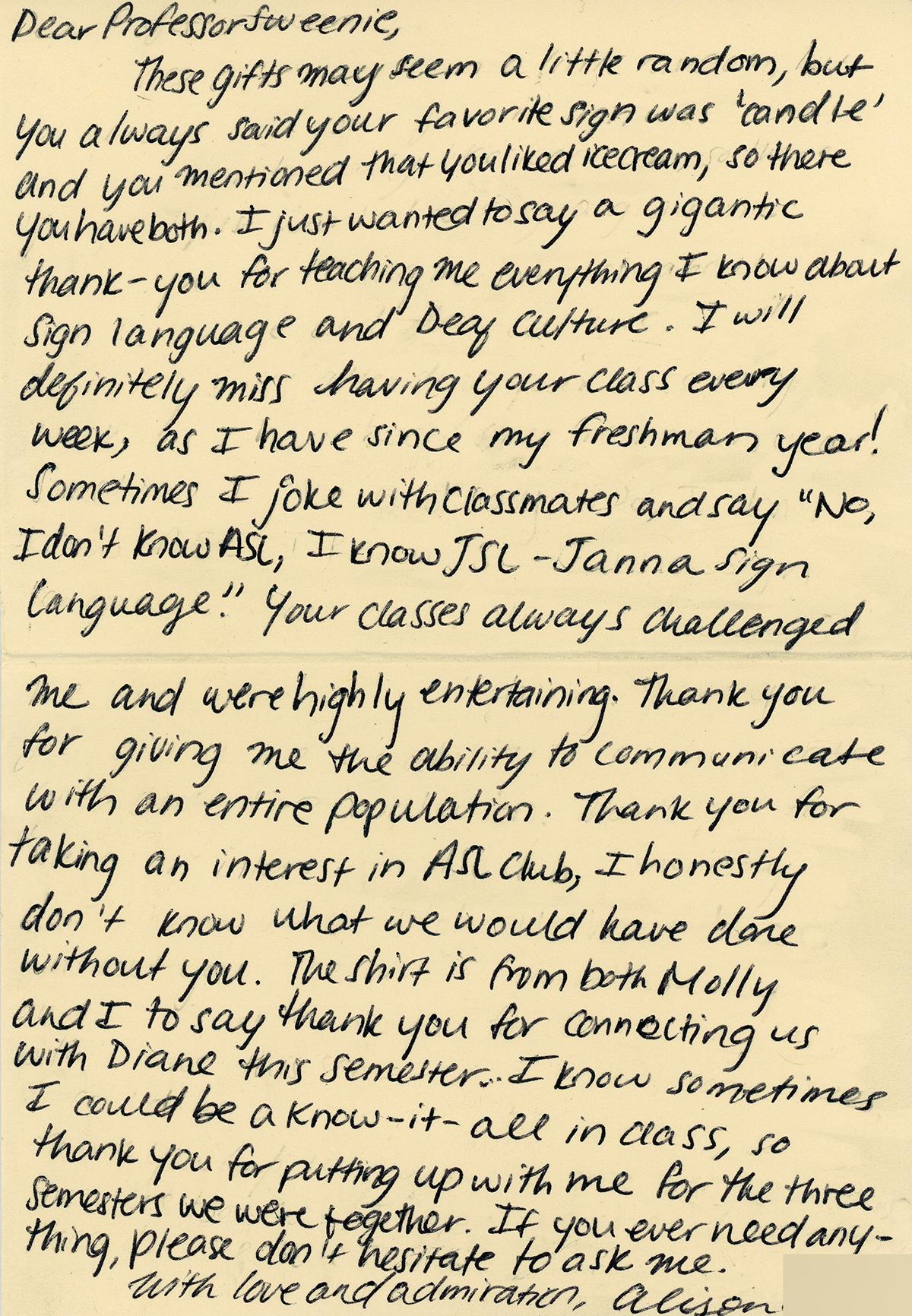 Alison Fan Letter
